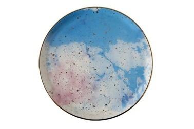 Porland Cosmos Desen 5 Düz Tabak 20 Cm Renkli